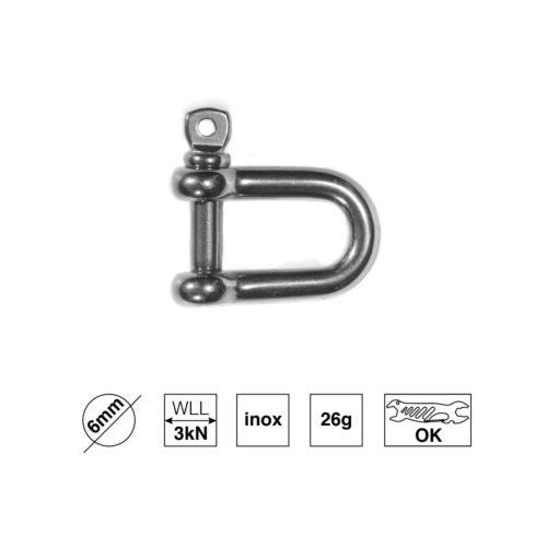 6mm D-Schäkel