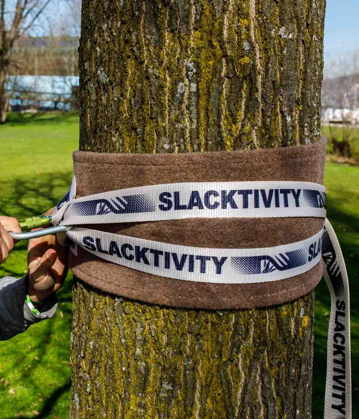 slackline baumschlinge setup