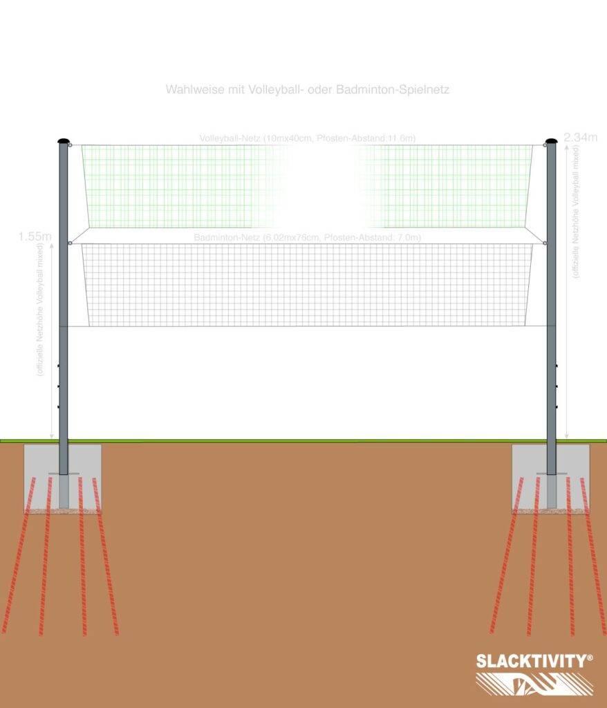 Volleyball Pfosten für Garten